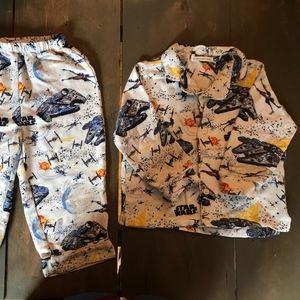 2TStar Wars Millennium Falcon Flannel Pajama- USED